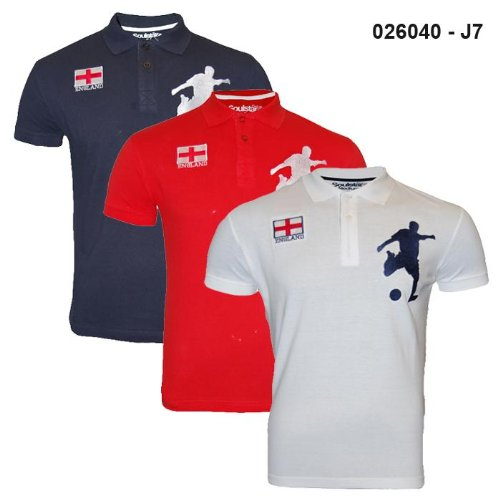 Mens Soulstar Euro England Polo T-Shirt Tee J7 Size Medium