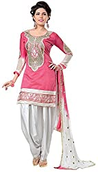 RR Fashion Women's CHANDERI Unstitched Dress Material (B-NEW PINK_pink)