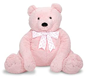 Melissa Doug Jumbo Pink Teddy Bear - Plush by Melissa & Doug