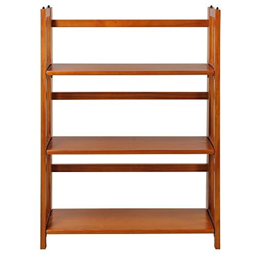 Casual Home 3 Shelf Folding Stackable Bookcase, Honey Oak by Casual Home