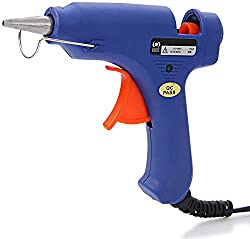 HEAVY DUTY ALL PURPOSE HOT MELT GLUE GUN WITH FREE 10 GLUE STICKS.