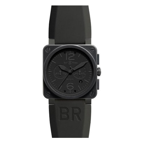 Bell and Ross Aviation Phantom All Black Dial Chronograph Mens Watch BR03-94-PHANTOM