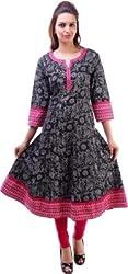 Alobha Beautiful Cotton Anarkali Kurta(AGKI-42,Size-L)
