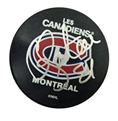 Guillaume Latendresse Signed N/A Unframed Puck - Memorabilia