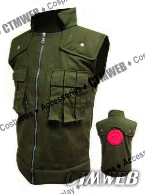 CTMWEB Naruto Cosplay Costume - Kakashi Hatake Vest Green Medium