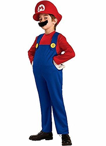 スーパーマリオ マリオ コスプレ 衣装 大人 子供 幼児 仮装 ハロウィン 3点セット (子供100?)