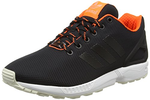 Adidas Zx Flux, Espadrillas Uomo, Nero (Core Black/Solar Orange/Sun Glowcore Black/Solar Orange/Sun Glow), 44 EU
