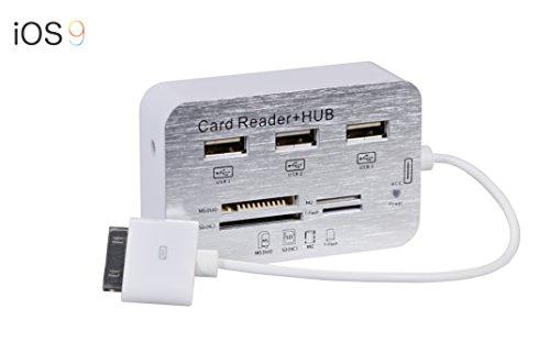 iPad 7in1 Camera Connection Kit Card Reader lettore di schede Adattatore con cavo / Connettore iPad a 30 pin / per iPad 3, iPad 2, iPad 1 di PhoneStar