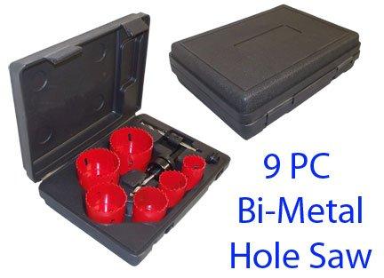 9 Pc Bi Metal Hole Saw Cutter Sheet Alloy Wood Plastic