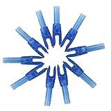 10pcs High quality Archery plastic Nock Carbon Arrow End Accessories - Blue