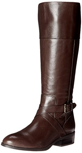Lauren Ralph Lauren Women's Maryann Riding Boot, Dark Brown, 8 B US