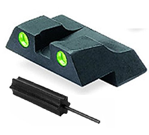 Meprolight The Mako Group Ml10226R.S Glock® Tru-Dot® Night Sight Rear Sight - Glock® 26 And 27 + Ultimate Arms Gear Pro Disassembly 3/32 Pin Punch Armorers Gunsmith Tool