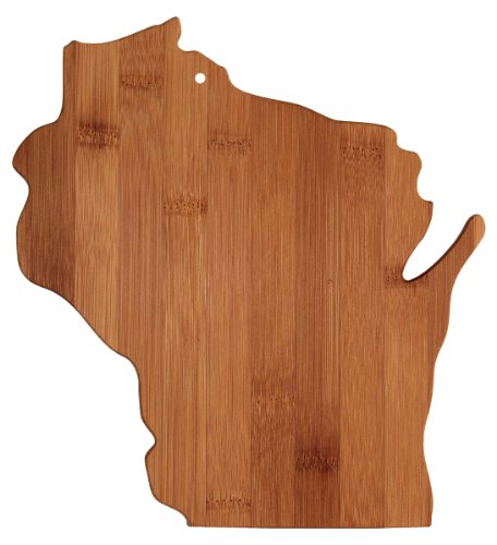Totally Bamboo Cutting and Serving Board, Wisconsin State