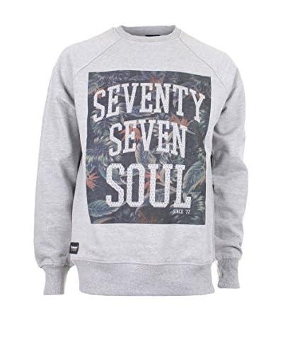 Seventy Seven Sudadera Tropical Soul Gris Claro