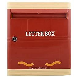 Lamba's PG01RI SDA Plastic Letterbox ( 280mm x 317mm x 77mm )