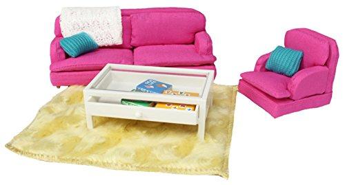 Lundby Smaland Sitting Room Set, Pink