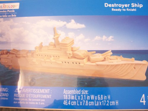 Cheap Michaels Creatology Wooden Puzzle  Destroyer Ship (B005GM9I4Q)