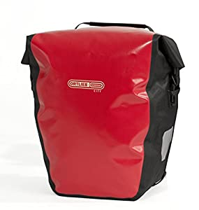 Ortlieb Fahrradtasche Back-Roller City, Rot/Schwarz, 17.0 x 32.0 x 42.0 cm, 40 Liter, F5001