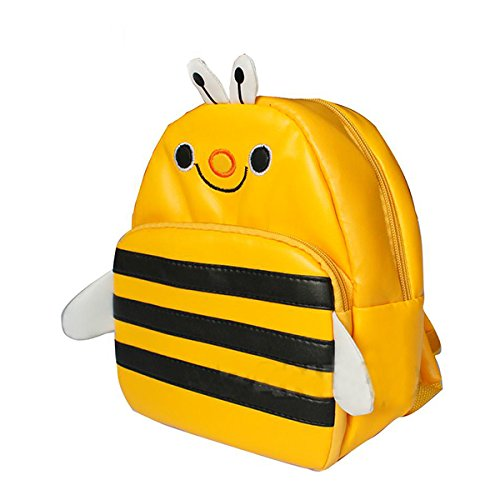Children Pu Leather Animal Cartoon Backpack Toddler Kid'S School Bag 15 Styles -Bee front-1046205