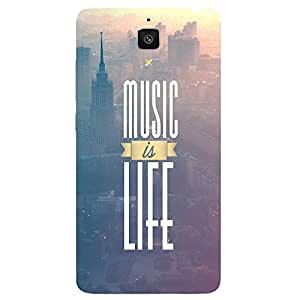 Back cover for Xiaomi Mi4 Music is Life