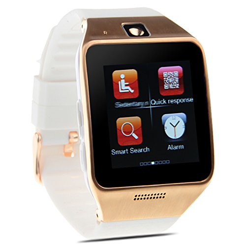 Padgene NFC Bluetooth Smart Watch for Samsung S3 / S4 / S5 / Note 4, HTC, LG, iPhone (Partial Functions) and other Android Smartphones, White