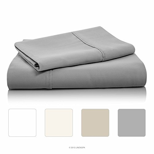 Lowest Prices! LINENSPA 800 Thread Count Cotton Blend Wrinkle Resistant Sheet Set - Stone - Queen Si...