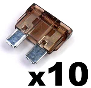 10x Fusibles Standard Enfichables Auto / Voiture / Caravane / Bateau - KFZ - 5 A Amp - Pour 12V / 24V - LIVRAISON GRATUITE!