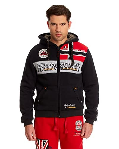 Geographical Norway Giacca Felpa Frivolle [Nero]
