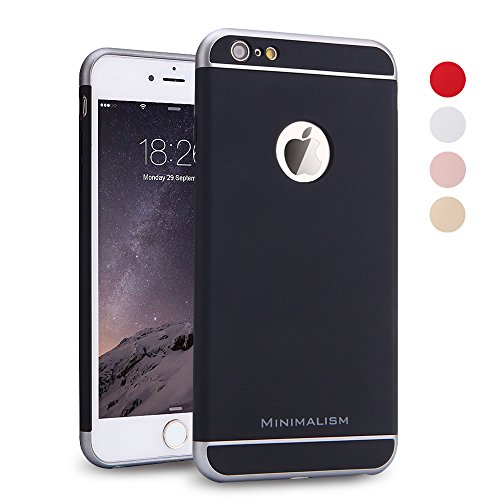 iPhone 6 Plus Case, MINIMALISM(TM) [3 in 1 Multicolor Series] Ultra Thin and Slim Design Coated Non Slip Surface with Excellent Grip Case Fit for iPhone 6 Plus and iPhone 6s Plus (5.5'') -- Black (Protective Skins Iphone 6 Plus compare prices)