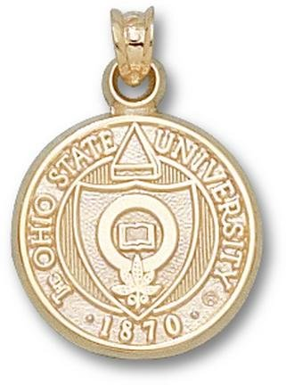 Ohio State Buckeyes 5 8 Seal Pendant - 14KT Gold Jewelry by Logo Art