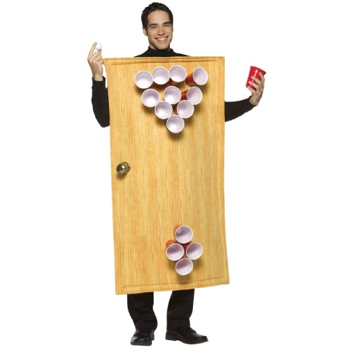 Rasta Imposta Beer Pong Costume 14 Cups Included, Brown, One Size - 1