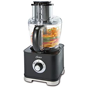 Oster FPSTFP4255 500-Watt 11-Cup Wide-Mouth Food Processor with Accessories, Black