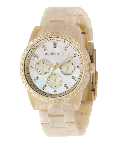 Michael Kors White Horn Ladies Bracelet Watch - MK5039