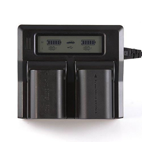 Fotga LCD Caricatore Doppio Della Batteria Caricatore Doppio Per Canon LP-E6 LPE6 EOS 5D Mark II III 5DS 5DSR 6D 7D 60D 70D