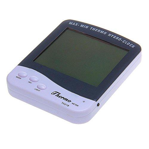 Digital Lcd Temperature Humidity Meter Hygro Thermometer Alarm Clock Backlight
