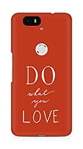AMEZ do what you love Back Cover For Huawei Nexus 6P