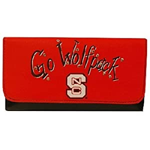 Game Day Outfitters NCAA North Carolina State Wolfpack Ladies Saddle Wallet