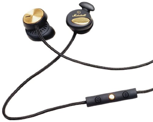 Marshall Minor Fx Earphones 4090445 (Included Ear Pad Replacement Bk / Microphone / Remote Control Function /) (Japan Import)