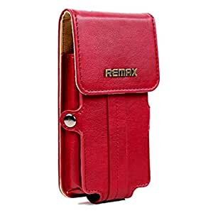 Brain Freezer Remax Pedestrian Series Leather Pouch Holster Case For Lg Optimus L9 P769 Red
