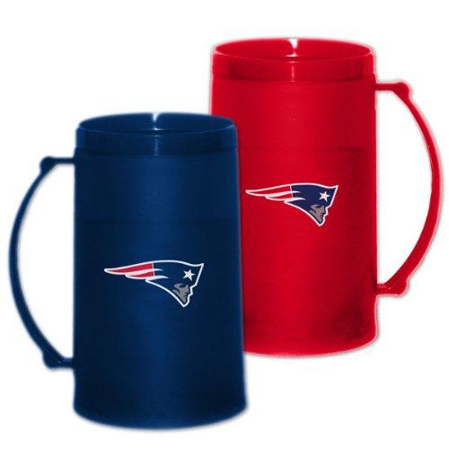New England Patriots 15 oz Freezer Mug 2 Pack: Home & Away H20 Mug Set