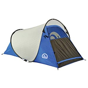 igloo pop up ii dome tent 1 person blue grey family tents sports outdoors. Black Bedroom Furniture Sets. Home Design Ideas