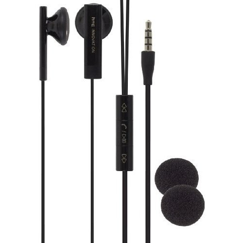 HTC 36H00880 – 04M Stereo Headset and Remote for HTC Evo Shift, my Touch 4G, G2, Surround – Earset – Retail Packaging – Black