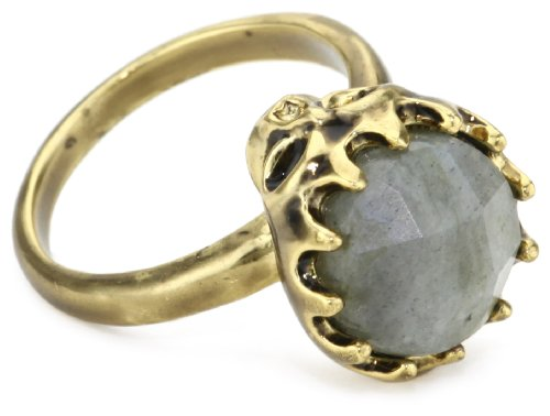 House of Harlow 1960 Stone-Top Skull Cocktail Ring, Size 7