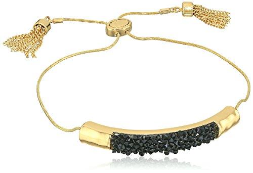 t-tahari-gold-jet-stone-bracelet