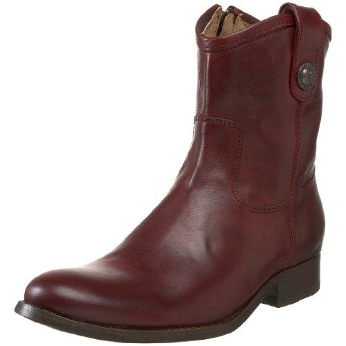 768902d2b0e The Features FRYE Women s Melissa Button Short Ankle Boot Bordeaux Soft  Vintage Leather 10 M US -
