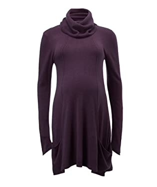 Blooming Marvellous Maternity Aubergine Knitted Pocket Dress