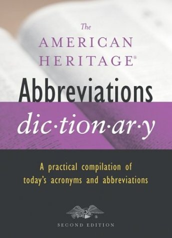 The American Heritage Abbreviations Dictionary, Second Edition