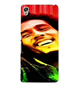 PrintVisa Bob Marley Colour Tone Design 3D Hard Polycarbonate Designer Back Case Cover for Sony Xperia XA