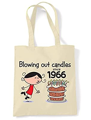 Blowing Out Candles Since 1966 50th Birthday Tote / Shoulder Bag