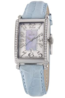 Gevril Women's 7247NE Mini Quartz Avenue of Americas Blue Diamond Watch